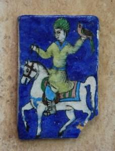 کاشی سردر یا طرح شاهزاده و طوطی، دوره قاجار