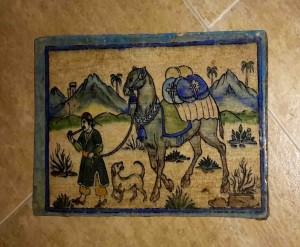 Titkan - Old Mashhad Tile , Qajar Period - 6